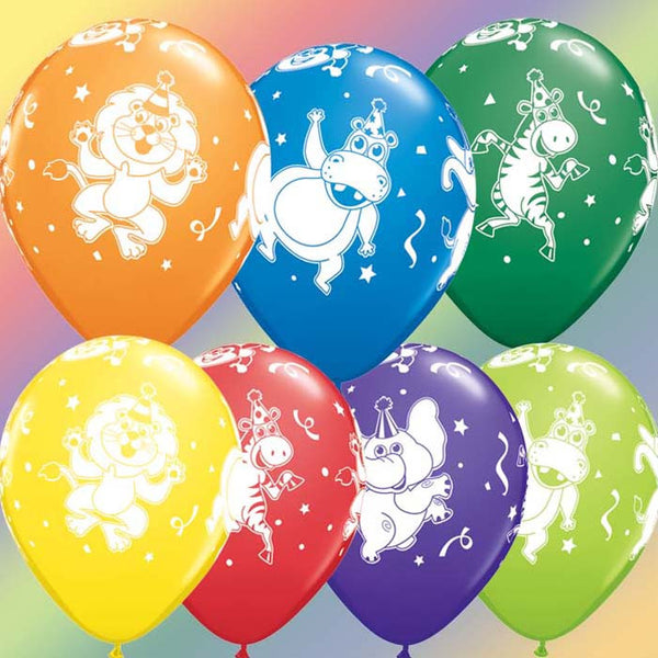 6 ballons party animals