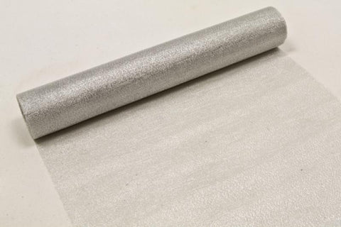 Chemin de table tulle lurex - argent