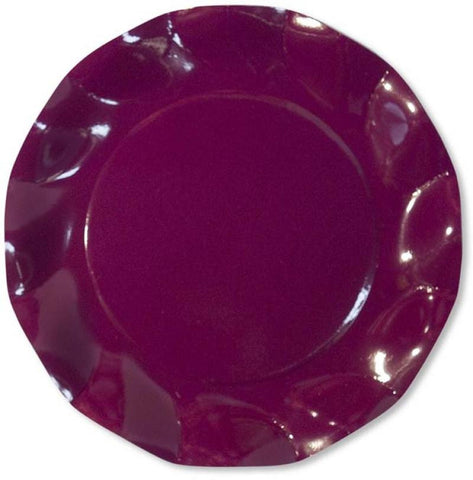 Table & jetable 10 assiettes 27 cm prune - Vivafiesta