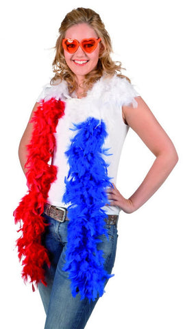 boa plume bleu blanc rouge supporter france