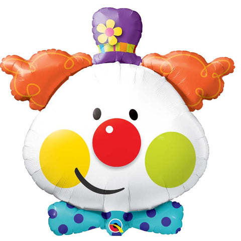 Ballon alu tête de clown 91 cm