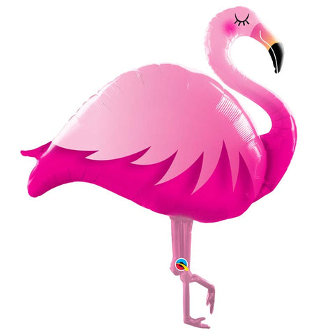 Ballon alu flamand rose 1.14M