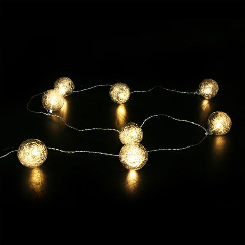 guirlande LED boules verre transparent - blanc chaud
