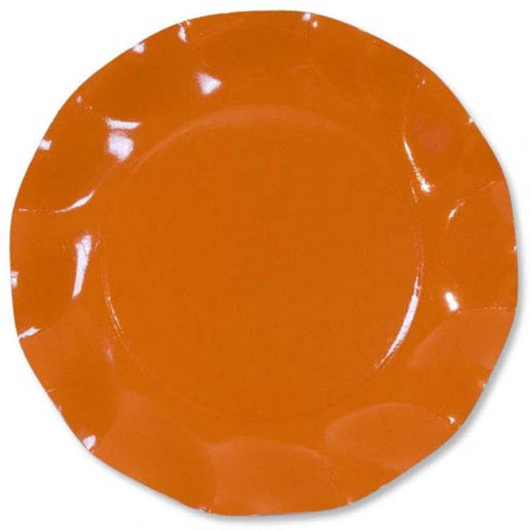 Table & jetable 10 petites assiettes 21cm orange - Vivafiesta
