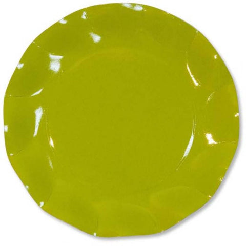 Table & jetable 10 petites assiettes 21cm lime - Vivafiesta