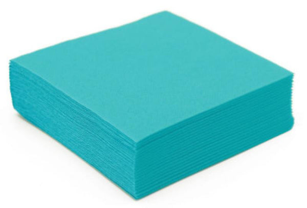 Table & jetable 50 serviettes cocktail turquoise - Vivafiesta