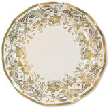 Table & jetable 10 assiettes 27cm noblesse or - Vivafiesta