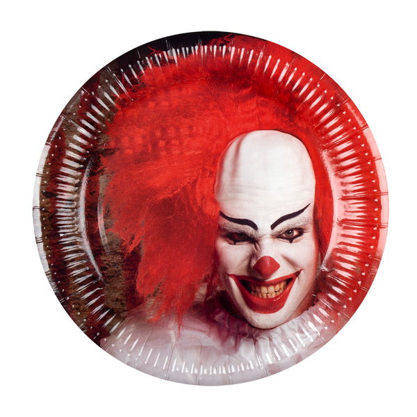 6 Assiettes clown psychopathe