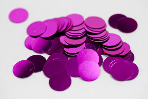 confettis table pastille fuschia