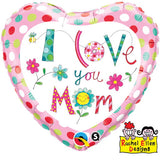 Ballon alu i love you mom 45 cm