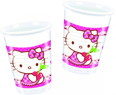 Table & jetable 8 gobelets anniversaire hello kitty - Vivafiesta