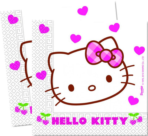 Table & jetable 20 serviettes hello kitty - Vivafiesta