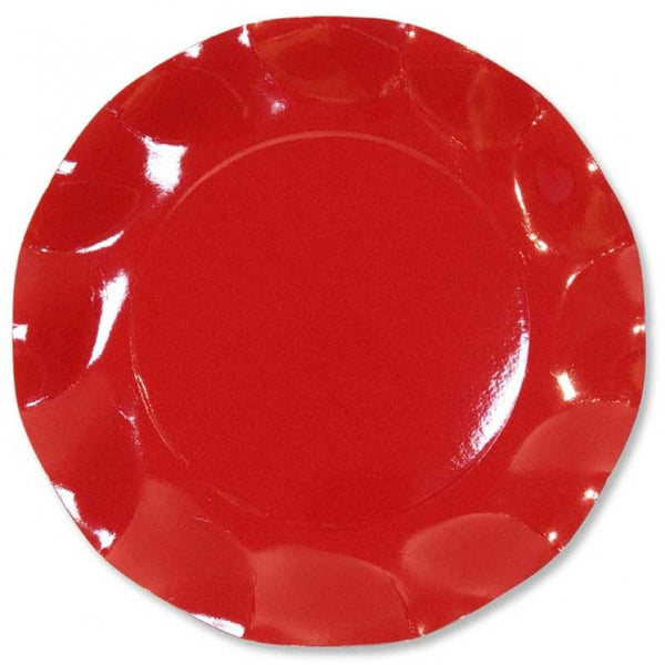 Table & jetable 10 assiettes 27cm rouge - Vivafiesta