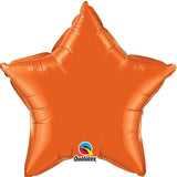 Ballon alu étoile orange 50 cm