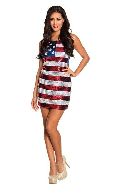 Robe USA paillettes