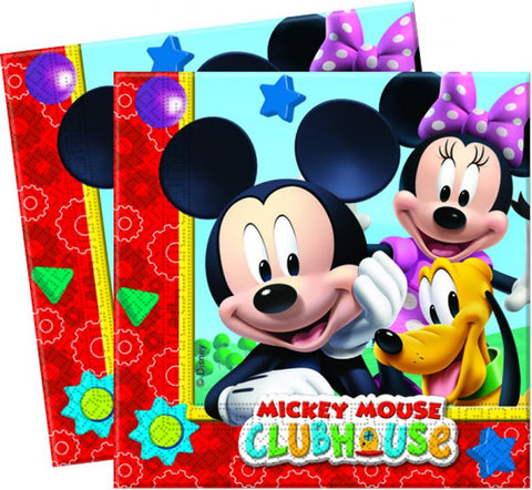 20 serviettes Mickey 33x33 - multicolore