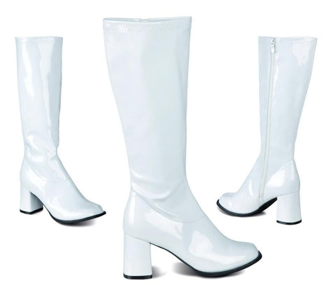 Bottes disco blanches femme