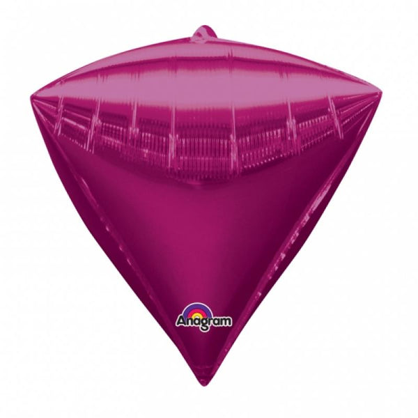 ballon aluminium diamant 43 cm - rose