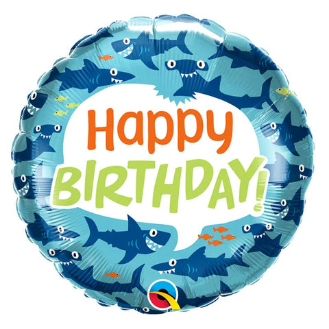 Ballon Happy Birthday requin