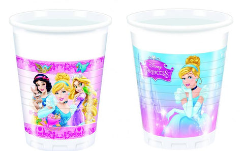 8 gobelets princesses disney