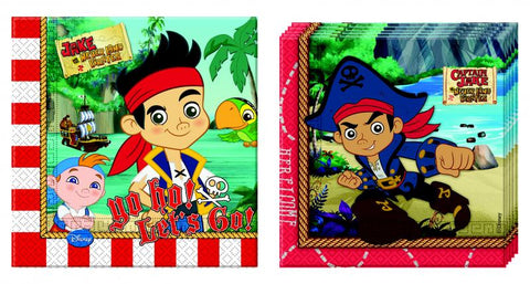 20 serviettes Jake le pirate 33x33 - rouge
