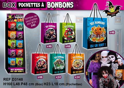 pochette halloween assorties par 1