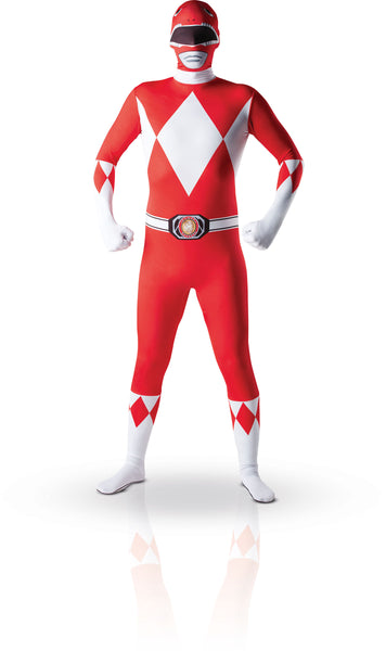 2nde peau power rangers rouge m