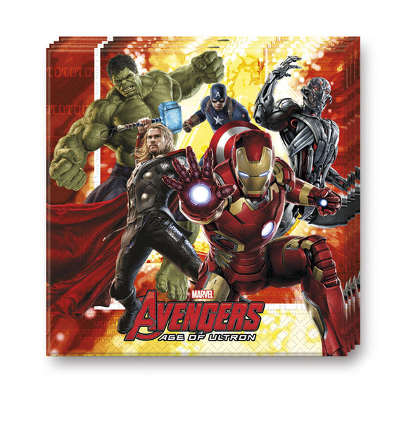 Table & jetable 16 serviettes avengers age of ultron - Vivafiesta