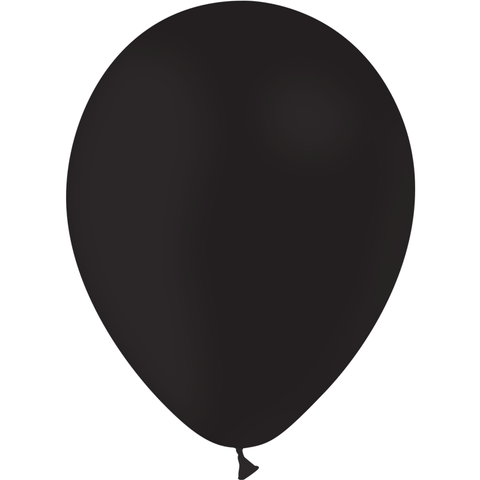100 ballons latex biodégradable - noir