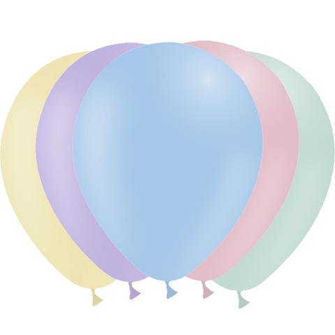 50 ballons latex biodégradable - assortiment pastel mat