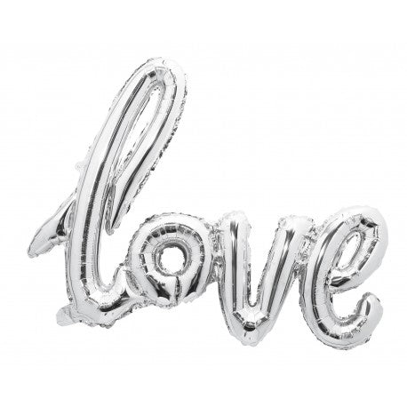Kit ballon mylar love argent 73x57cm