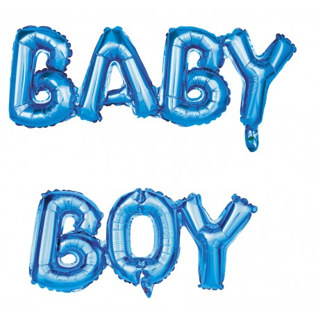 Kit ballon mylar Baby Boy 118x24cm