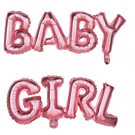 Kit ballon mylar Babby Girl 118x24cm