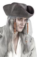 1 Perruque pirate grise + chapeau