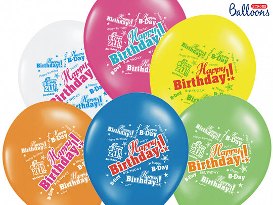 Ballons Happy Birthday colorés