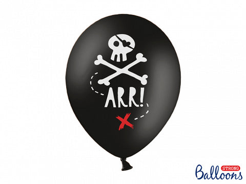 6 ballons noirs Pirate