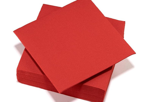 50 serviettes Airlaid 40x40 - Rouge