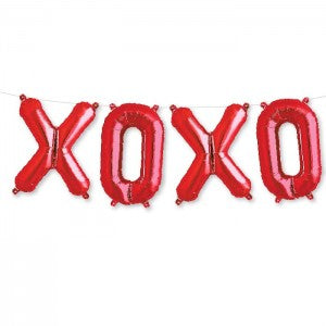 kit ballon mylar xoxo rouge 46cm
