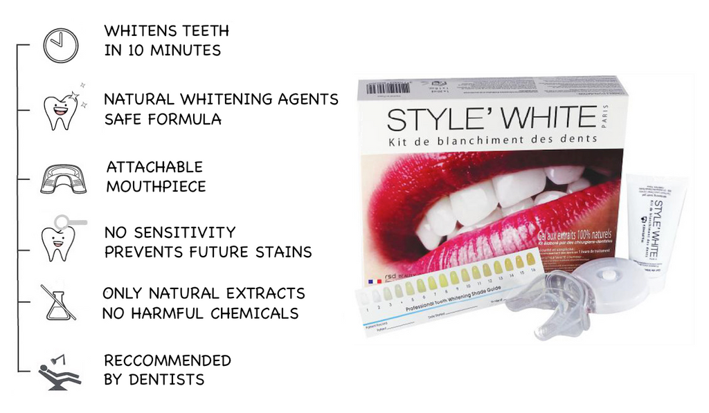 Whitening of dead teeth in Dubai! How? Teeth whitening gel, kit or coco powder?