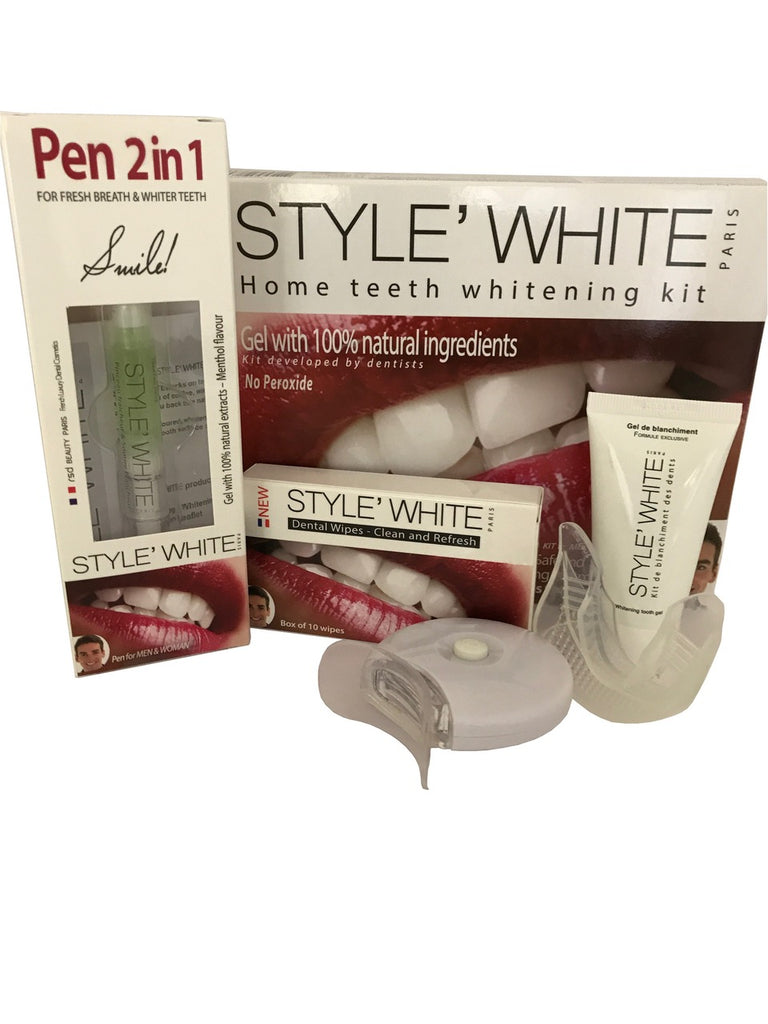 Basic principles of oral hygiene - teeth whitening kit, gel, system, STYLE WHITE in Dubai
