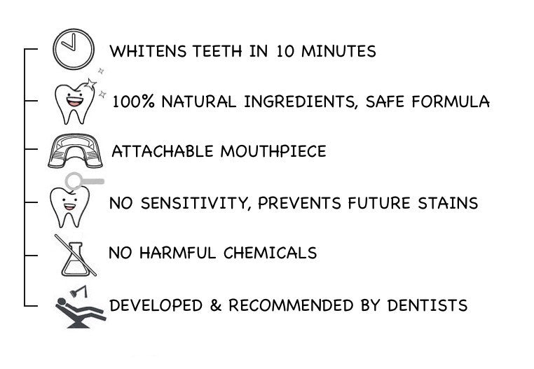 STYLE' WHITE - The Teeth Whitening treatment in less than an hour, Kit, Gel, System, Powder, Strips, Wipes, Safe and Simple with 100% natural ingredients. No peroxide. With LED light activator.