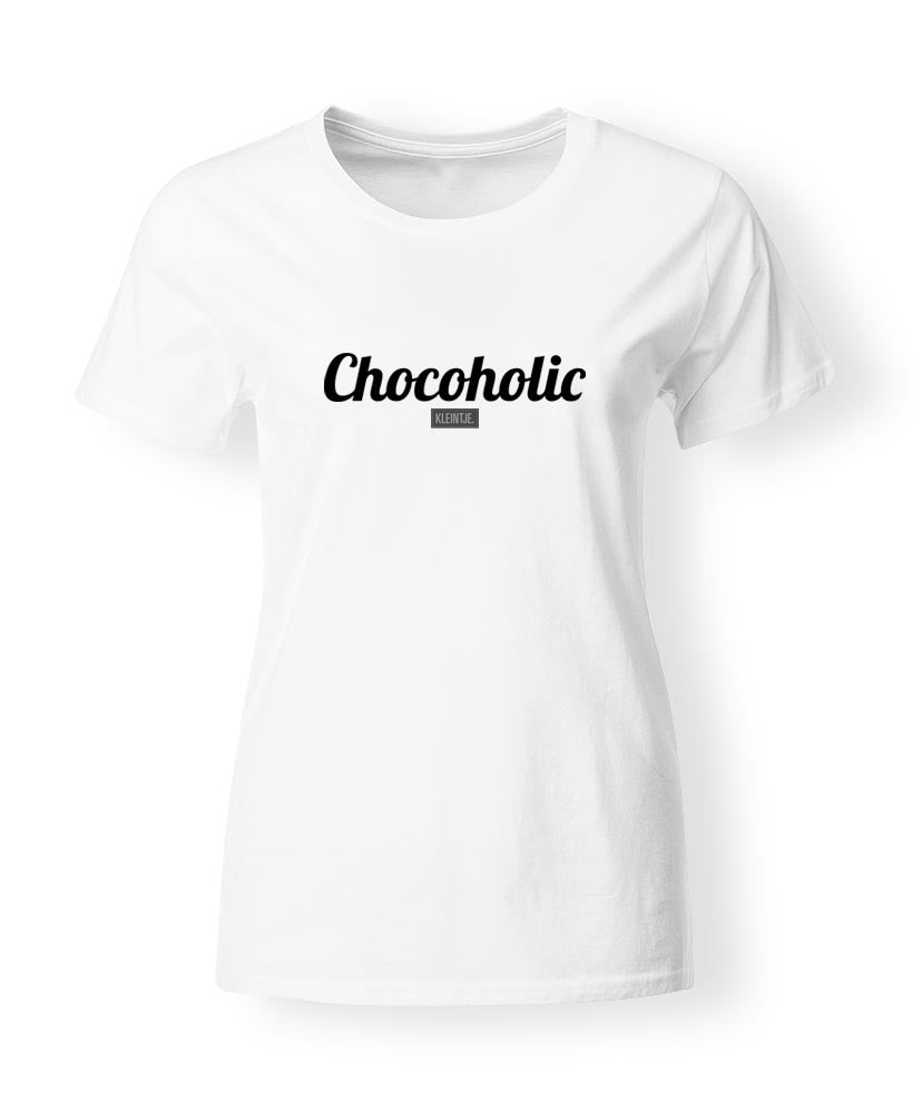"""Chocoholic"" T-shirt dames"
