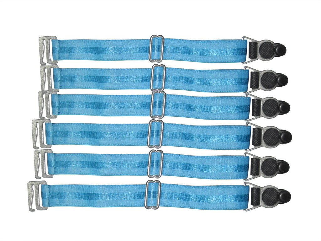 Suspender Clips In Turquoise