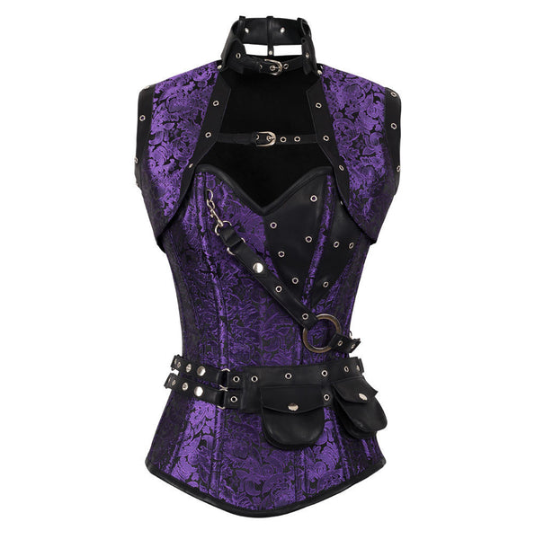 Alany Steampunk Corset - Corsets Queen US-CA