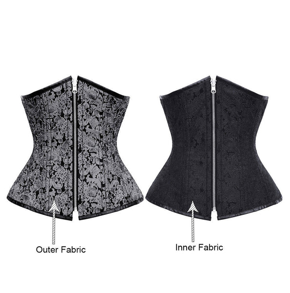 Alyson Reversible Waist Training Corset - Corsets Queen US-CA