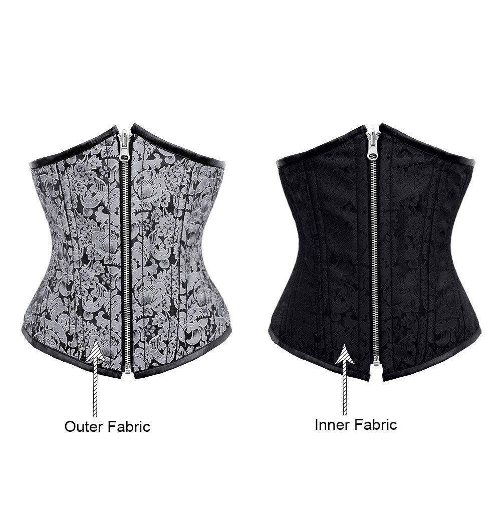 Alysson Reversible Waist Training Corset - Corsets Queen US-CA