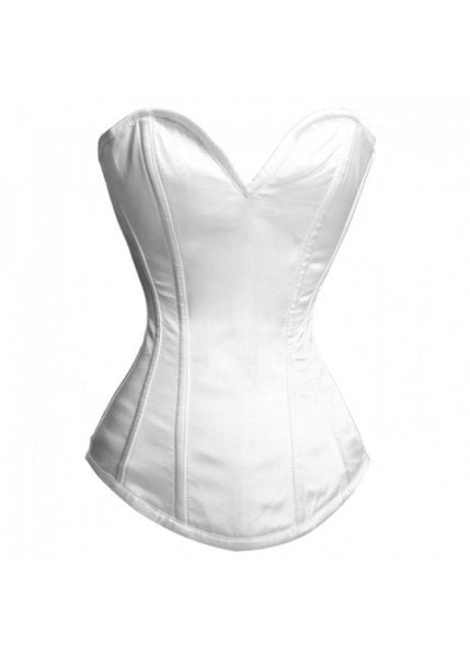 EB-9051 WHITE SATIN FRONT CLOSE