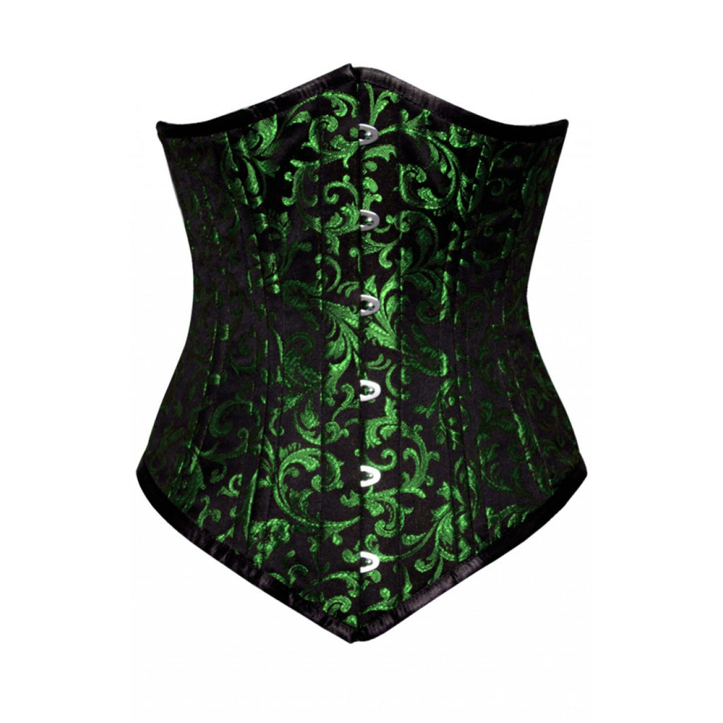 WT-UB LONGER GREEN/BLACK BRO-200 - Corsets Queen US-CA