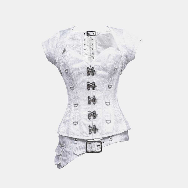 Cassidy Steampunk Overbust Corset - Corsets Queen US-CA