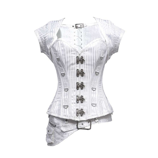 Catherine Steampunk Overbust Corset - Corsets Queen US-CA